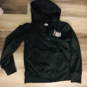 🍭Boys Black Zip Hoodie Jacket M 10-12